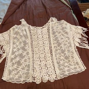 Women's Lace/Crocheted Top by MUDD Brand.